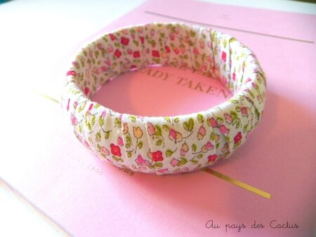 Bracelet Liberty biais rose Au pays des Cactus 3
