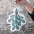 Diy carte de voeux : une bonne année sous le gui (à imprimer - gratuit)