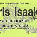 Chris isaak - samedi 28 octobre 1989 - town & country club (londres)