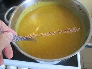 Crème de carottes et pommes de terre aux herbes47