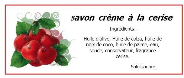 savon crème cerise