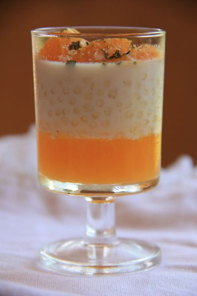 VERRINE PERLE DU JAPON GELEE D'ORANGE