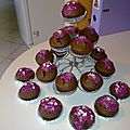 Cup cakes chocolat/poires
