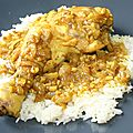 Cuisse de poulet vindaloo
