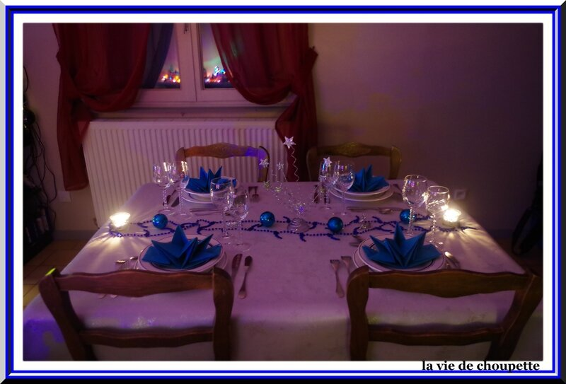 Table Decoration Bleue