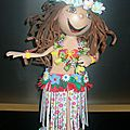 Jolie tahitienne prête a danser le tamoure