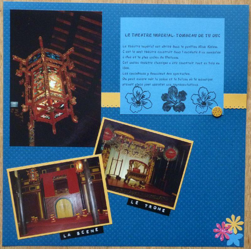 Le théâtre impérial. Tombeau de Tu Duc à Hué