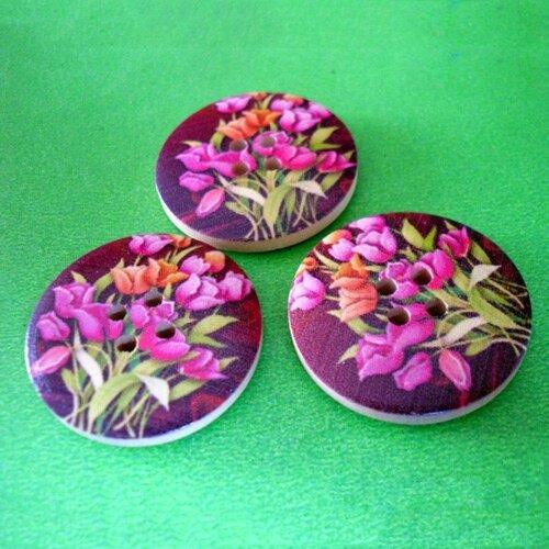 boutons tulipe