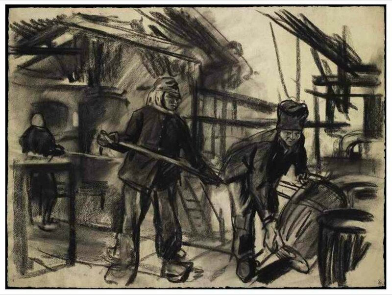 Jonas chargement d une cuve de melinite fev 1918