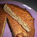 Gâteau amande banane