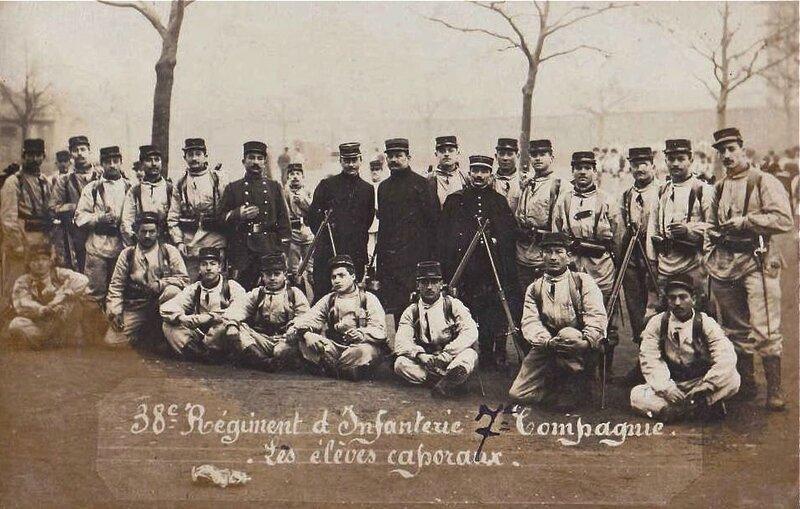 élèves caporaux 38e RI