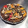 Meatzza : pizza sans pâte à la viande et aux légumes