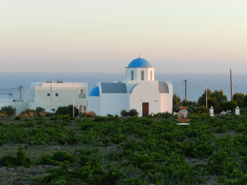 Coucher de soleil mer Egée