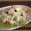 Riz carotte, raisins et amandes - bademli pilav