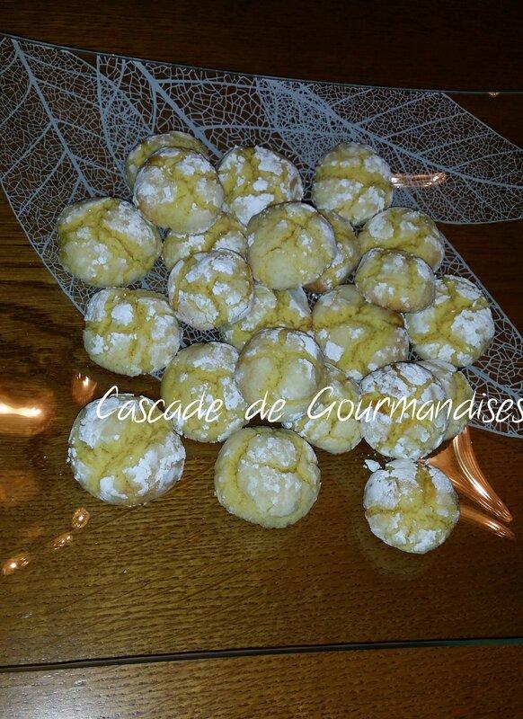 Craquelés au citron Lemon crinkles