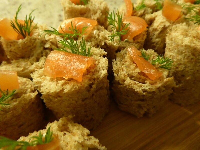 roulés pain de mie saumon