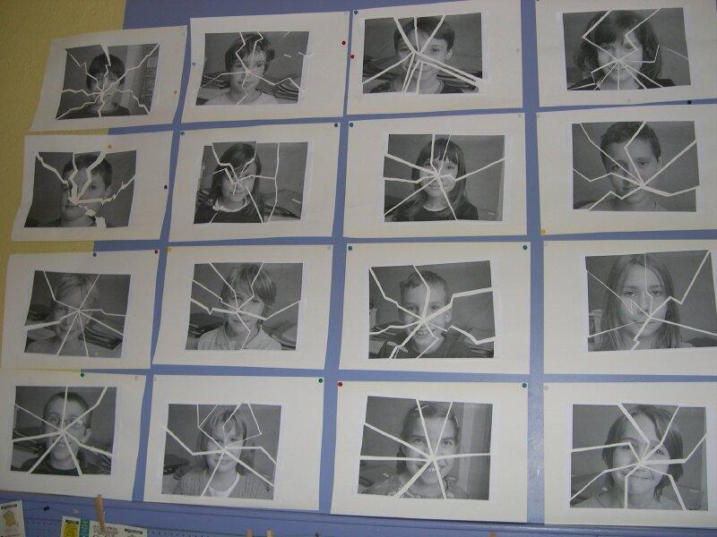 Cm1 le miroir bris photo de les arts l 39 cole cole for Le miroir brise