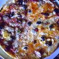 Pizza mi-jambon mi-fromage