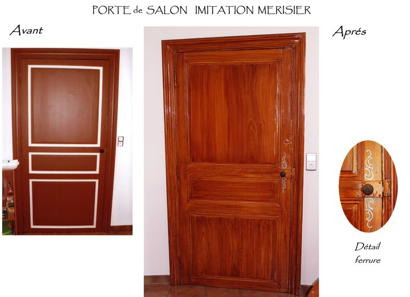 Porte salon imitation merisier photo de faux bois for Salon porte de champerret horaires