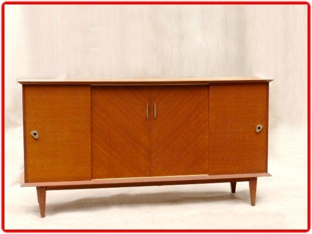 enfilade bahut vintage annees 50 bois massif vendu meubles et d coration vintage design scandinave. Black Bedroom Furniture Sets. Home Design Ideas