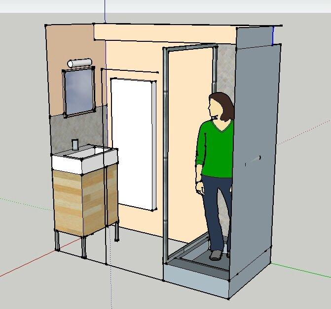 Une mini rikiki tout petite salle d 39 eau mon billet d for Salle de bain espace reduit