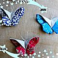 308, 309, 310. broches papillons
