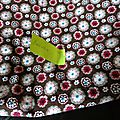 velours à motif style liberty Toria 100 x 90