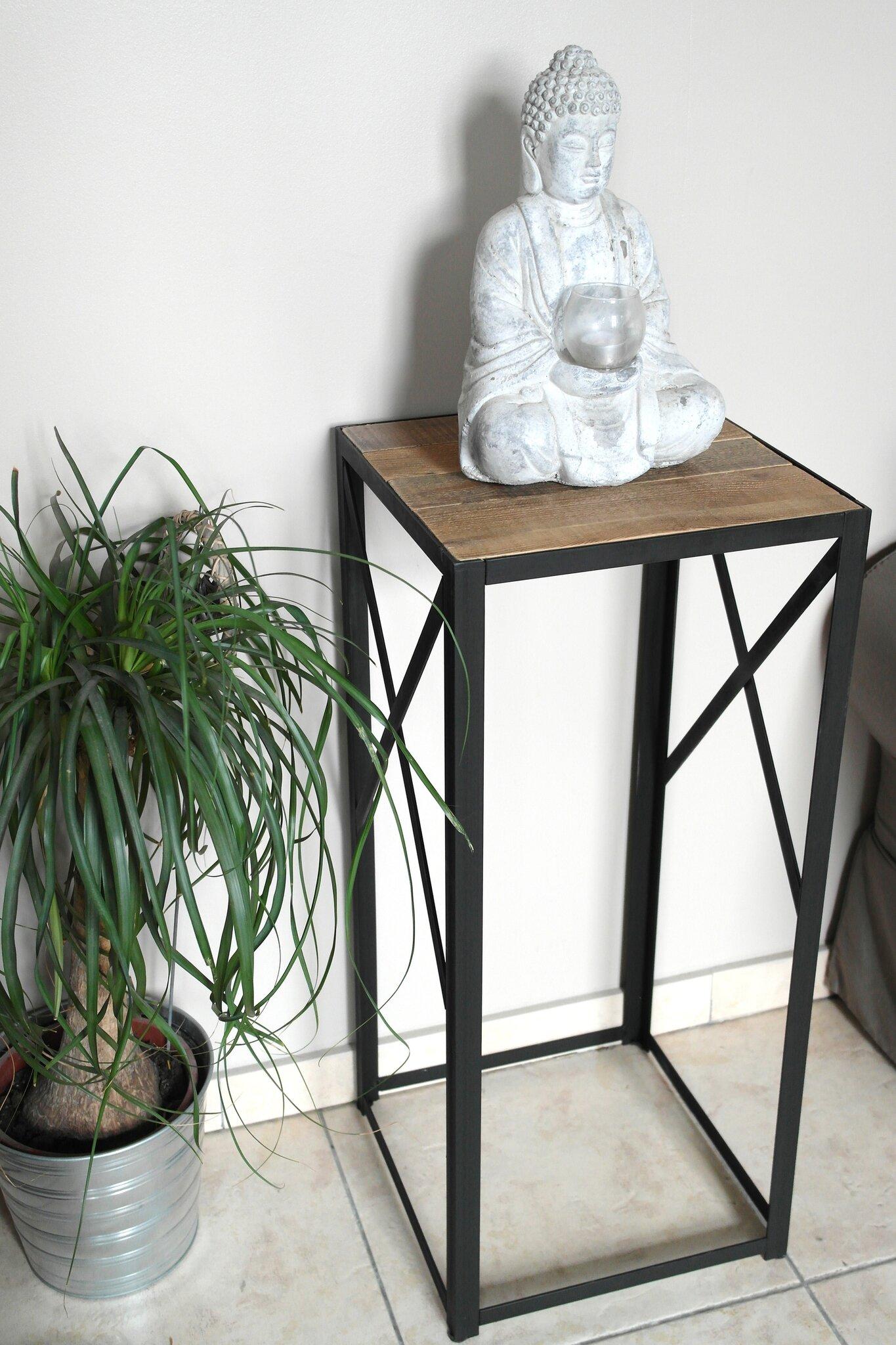 Sellette acier et bois de palette - L\'atelier Broc&loft