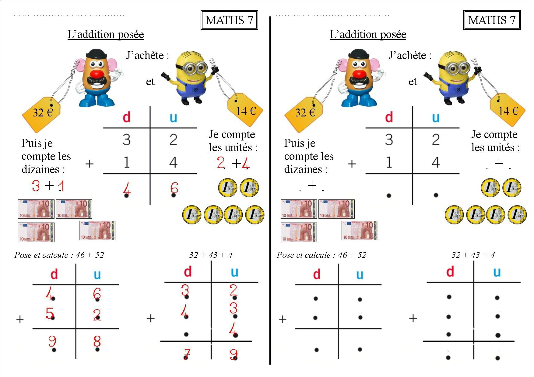 Tables de multiplication ce1 for Les tables de multiplication en ligne