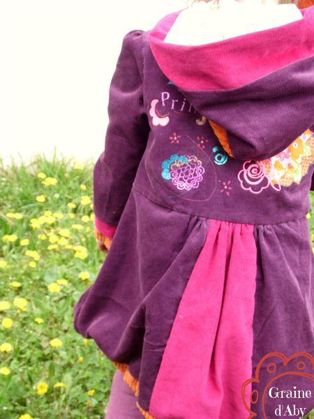 manteau de printemps dos porté
