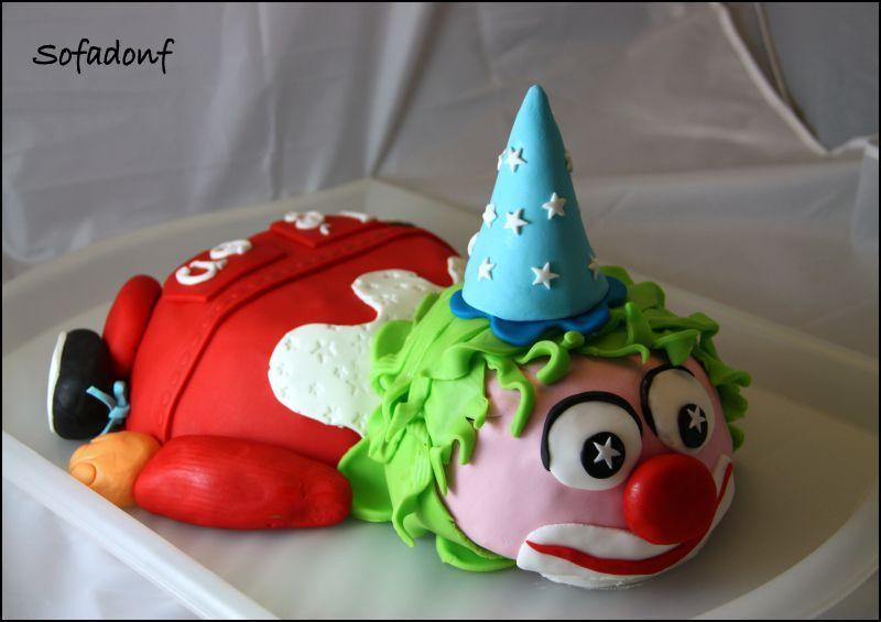 anniversaire24 gateau anniversaire clown. Black Bedroom Furniture Sets. Home Design Ideas