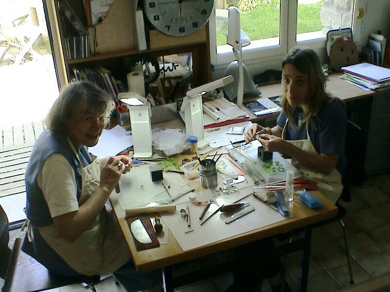Chantal et Marie-Laure à l'atelier