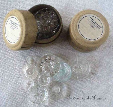 boutons verre