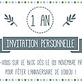 { happy birthday } loulou fête ses 1 an !