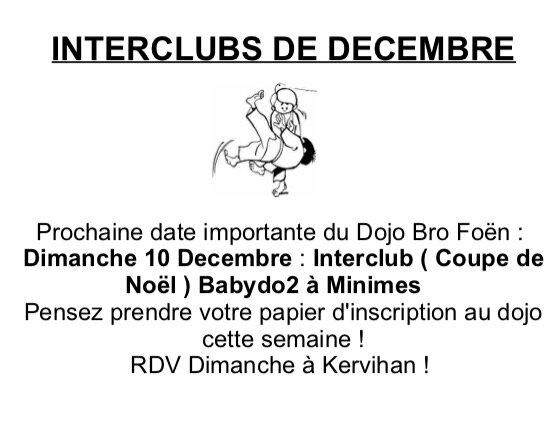 INTERCLUBS DECEMBRE
