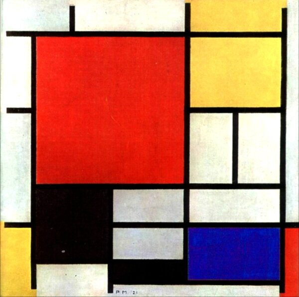 UV mondrian Composition 1921