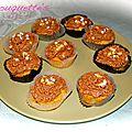 Cupcakes Nutella - praliné