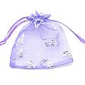 Lot de 100 sacs organza lilas avec papillons (réf dra-lil-pap)