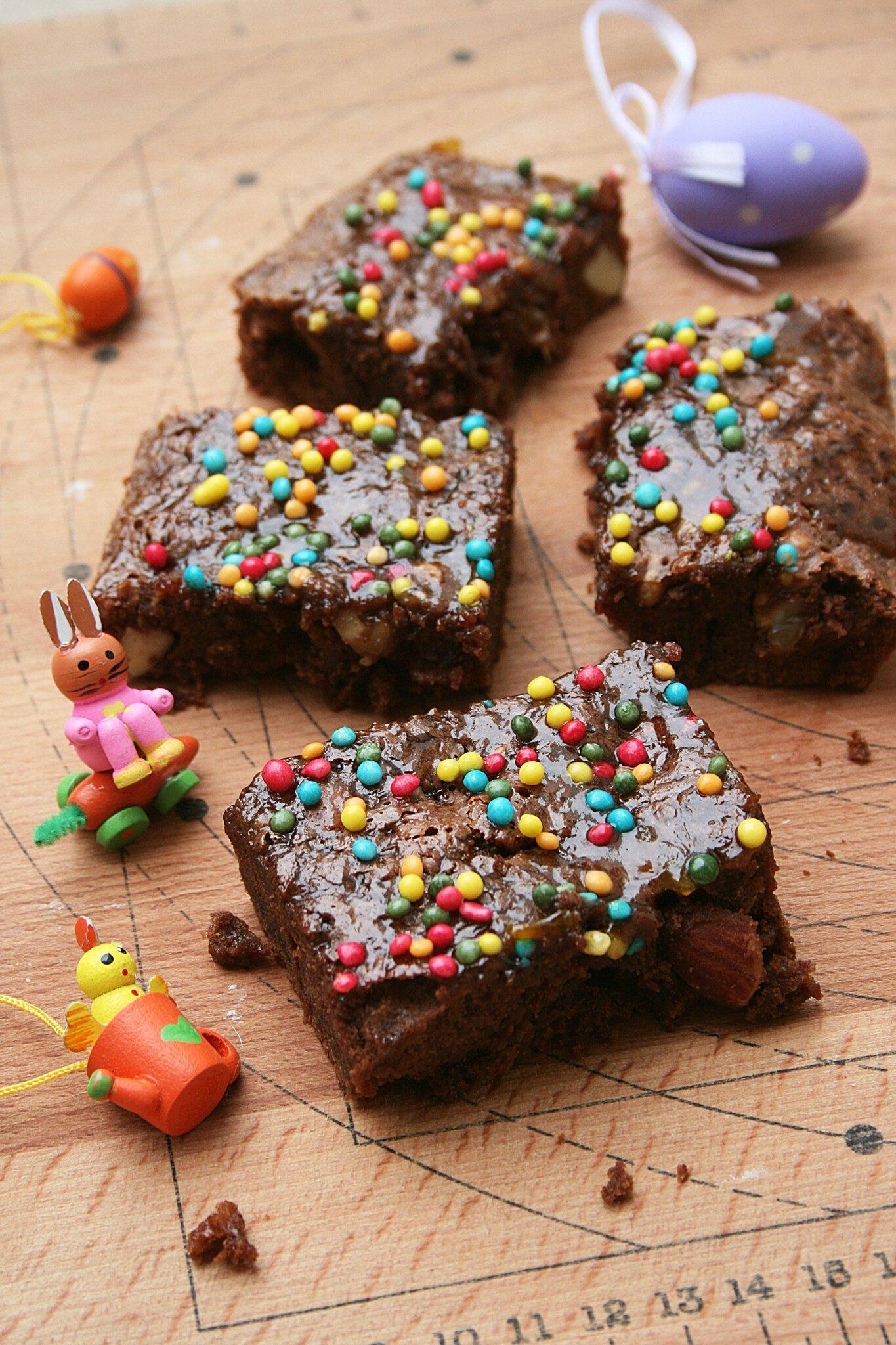 Que faire avec des chocolats de Pâques : un brownie