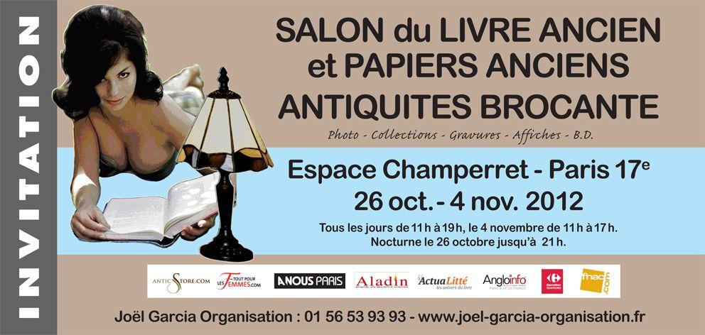 Salon du livre ancien et et papiers anciens espace for Salon du livre france