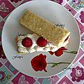 Pâtisserie à la gelée de kakis et framboises