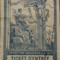 Ticket d'entrée 1900
