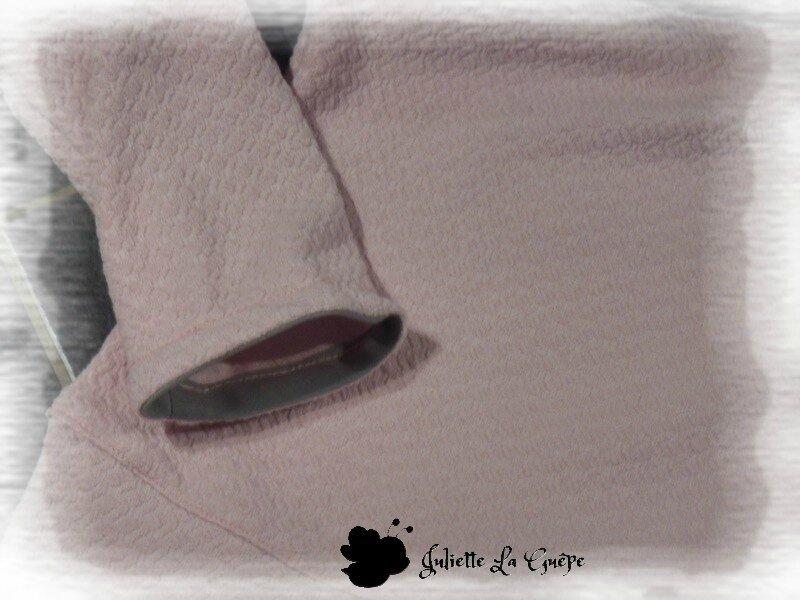 Chatouilleuse legging gris rose étoiles 6