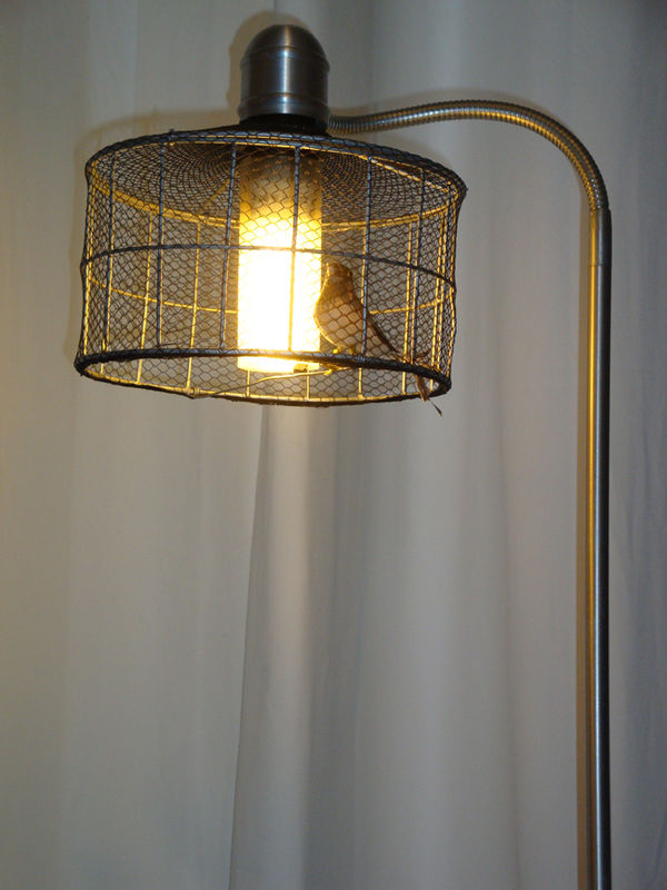 birdy lampadaire cage oiseaux r cup mr mlle. Black Bedroom Furniture Sets. Home Design Ideas