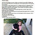d'excellentes nouvelles de MANNIE de la DULLAGUE ...chez le DCT VETERINAIRE CH.MORIN