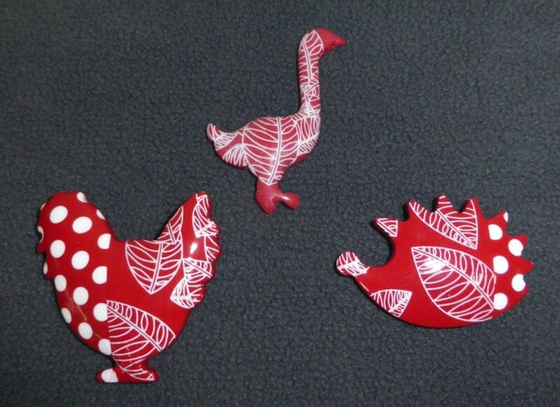 SOLY CAT - BROCHES PETITS POIS & FEUILLES