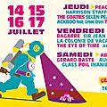Festival chauffer dans la noirceur 2016 - j-5 - dimanche 10 juillet 2016 - work in progress - via twitter