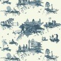 London toile blue