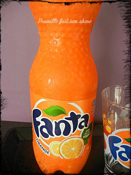 Gateau bouteille de Fanta - la découpe et quelques explications