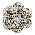 "Harry winston, ""rose of england"" diamond brooch"
